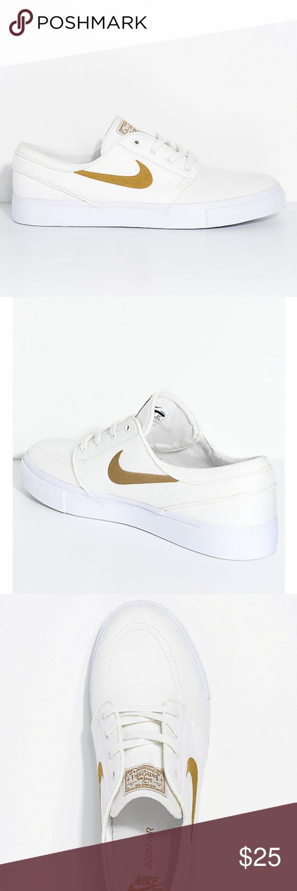 Nike SB Janoski White Sail/Golden Beige Shoes *New no box* *Slightly ...