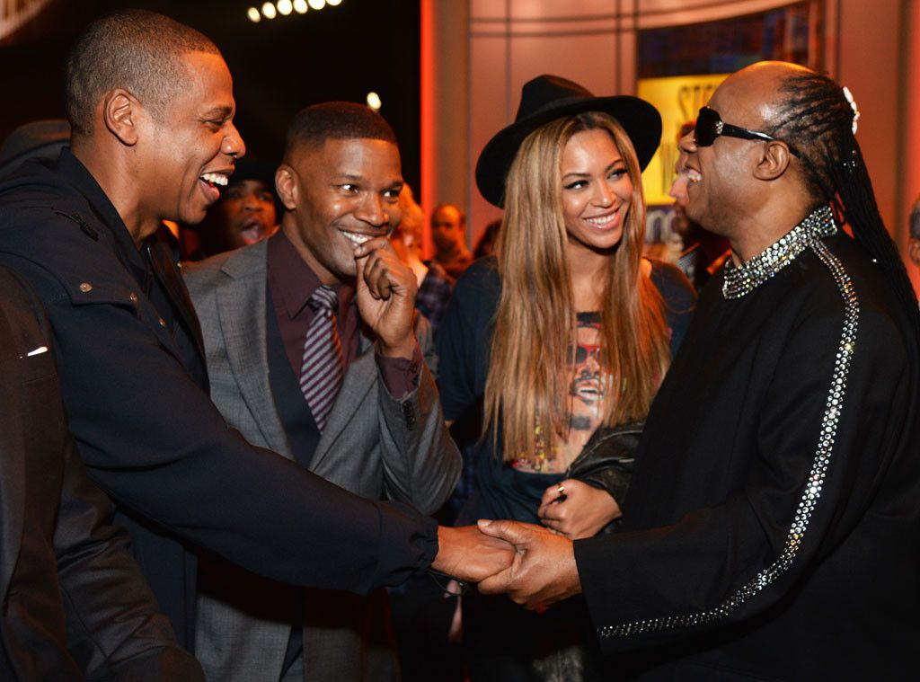 Jay Z Jamie Foxx Beyonce Stevie Wonder From The Big Picture Today S Hot Pics Stevie Wonder Beyonce Show Beyonce