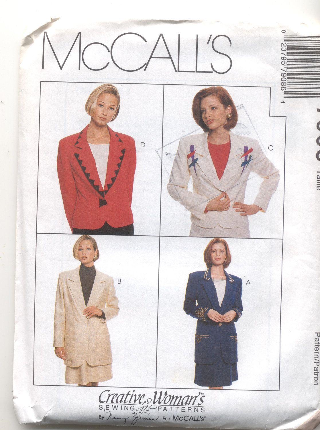 Womens Jacket and Skirt sewing Pattern McCalls 7908 by ...