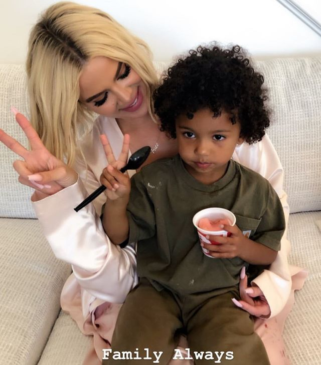 "Kardashian Jenner Kids on Instagram: ""Auntie KoKo and Saint 💚"""