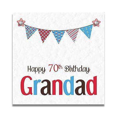 Handmade Personalised Grandad Dad Grampa 50th 60th 70th 80th 90th