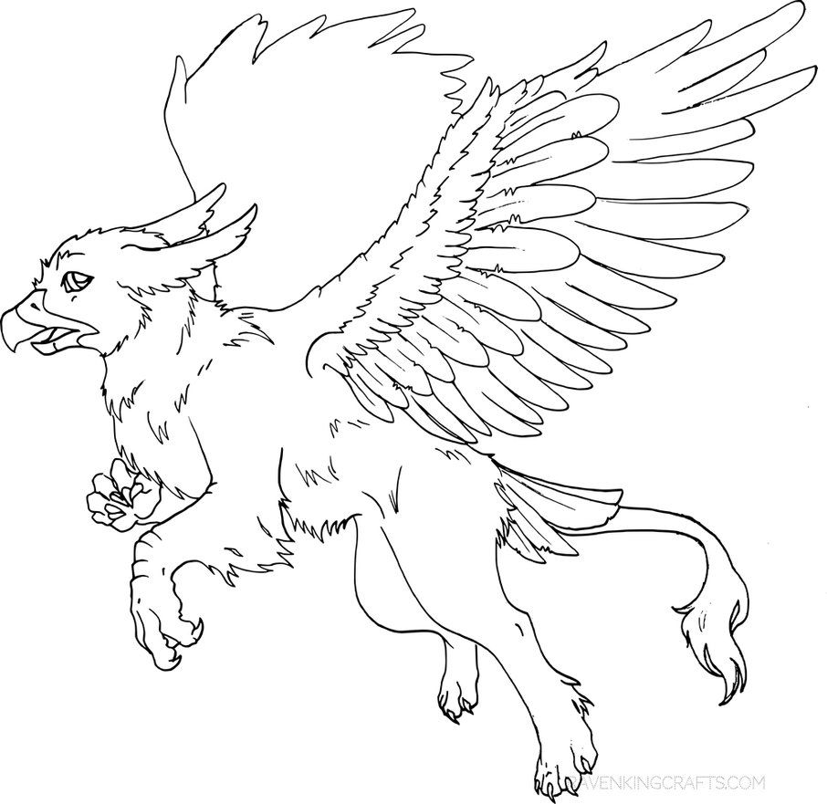 Gryphon Lineart Griffin Lines By Ravenkingcrafts Lineart Lines Gryphon Griffin Creature Mythology
