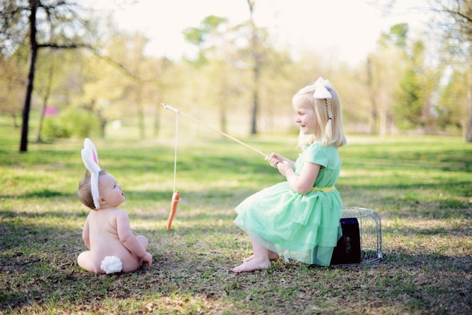 Easter picture idea, adorable, sibling photo   I think