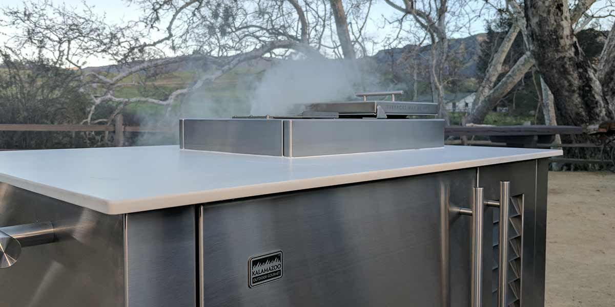 Gravity Fed Charcoal Smoker Cabinet