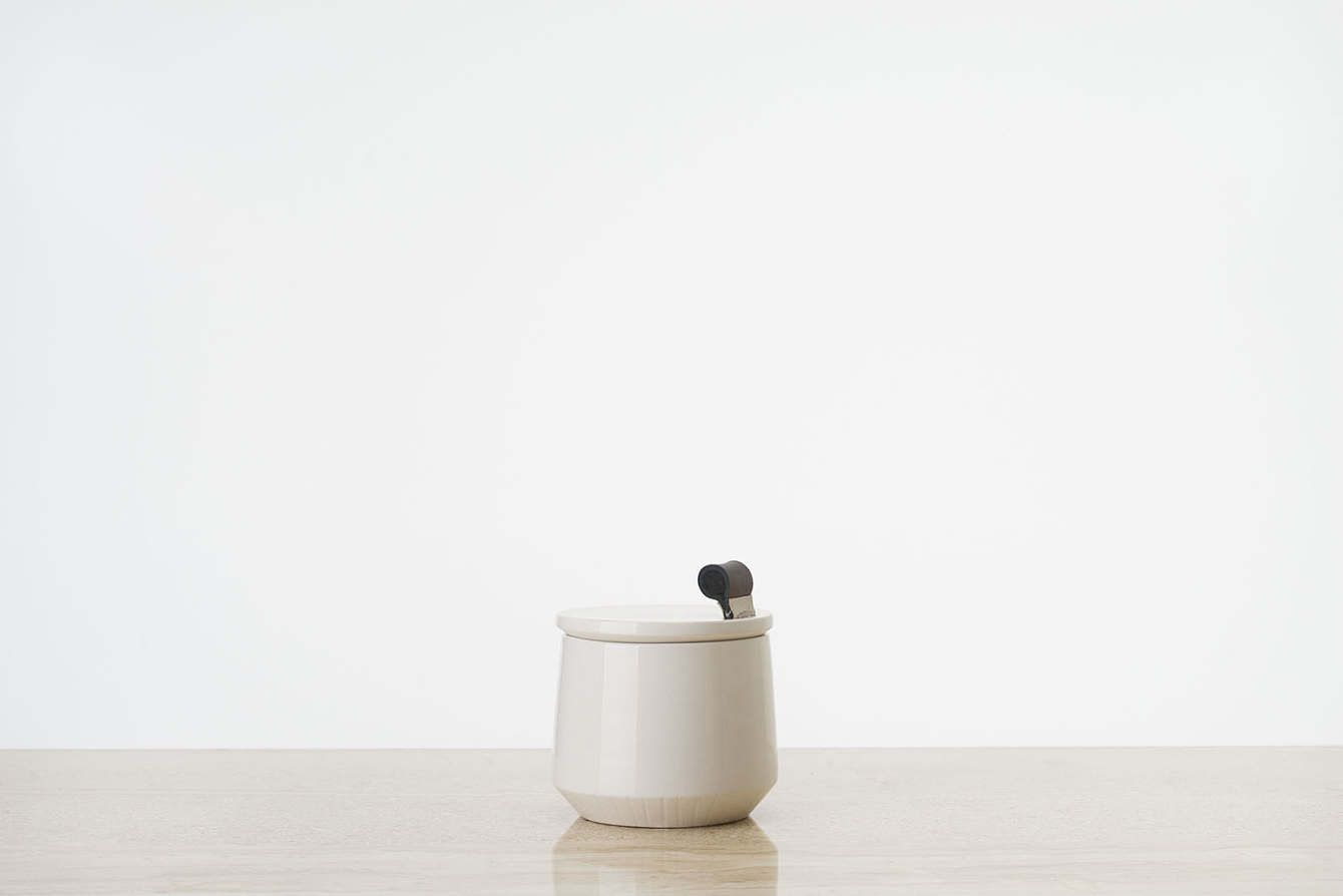 CALCAREA Ceramic Edition POT S - francescagattello. This special edition of housewares is the ceramic version of Calcarea project, for sale to support the progress of ReM research. Calcarea is a prototype made by using ReM, an experimental material which combines clay with industrial marble-stone waste. CALCAREA Ceramic Edition is a limited collection of vessels handcrafted by Italian artisans. Strips made with three different leather colors.   FOR SALE on #CrowdyHouse #ceramic #pottery…