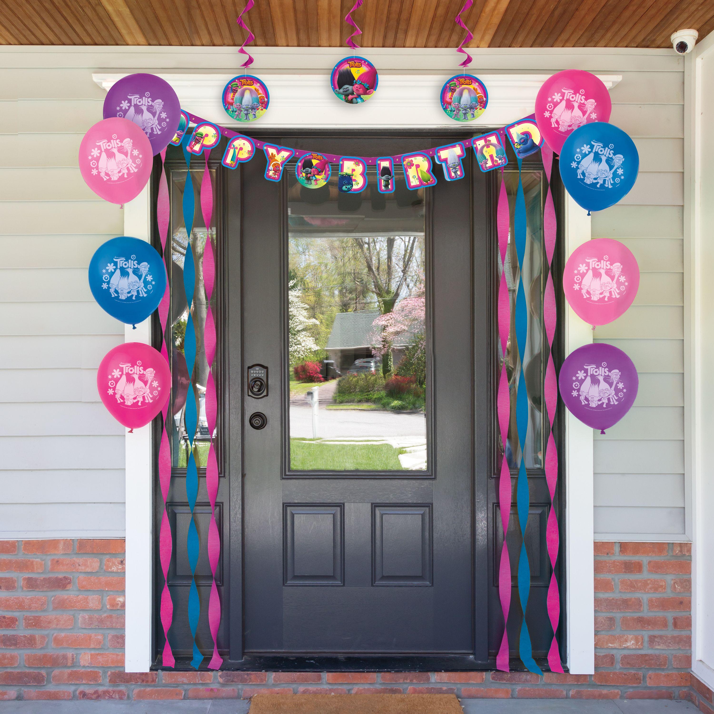 Trolls World Tour Virtual Birthday Party Decorating Kit - Walmart.com