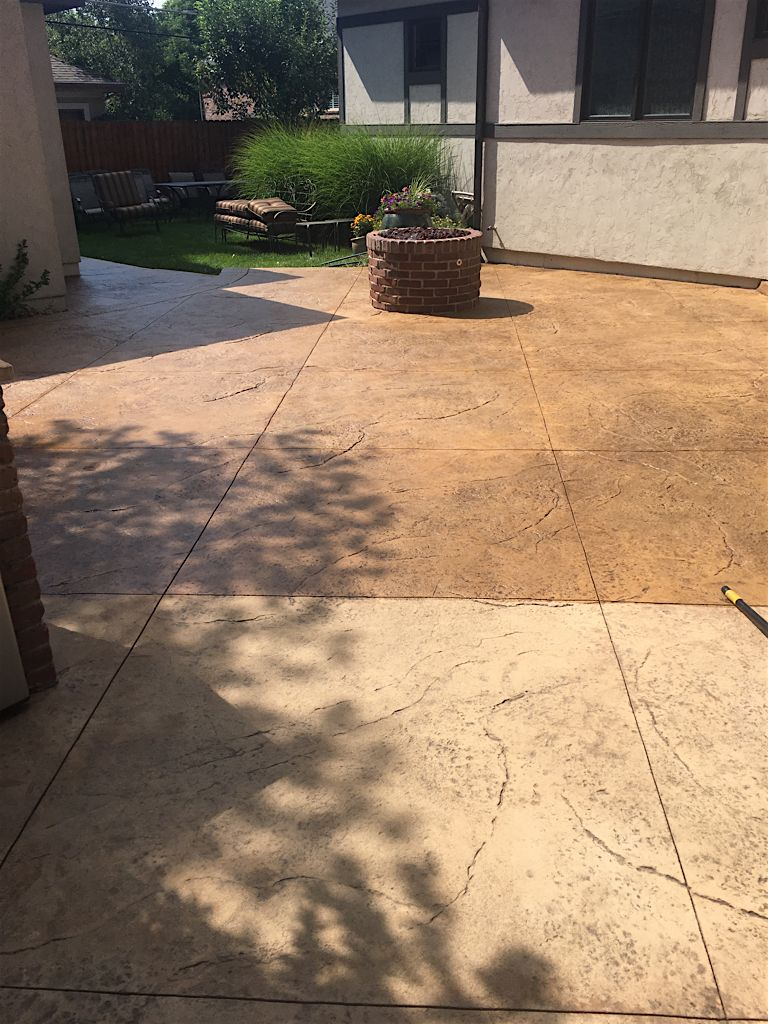 We love restoring our clients\' stamped concrete! This is a before ...
