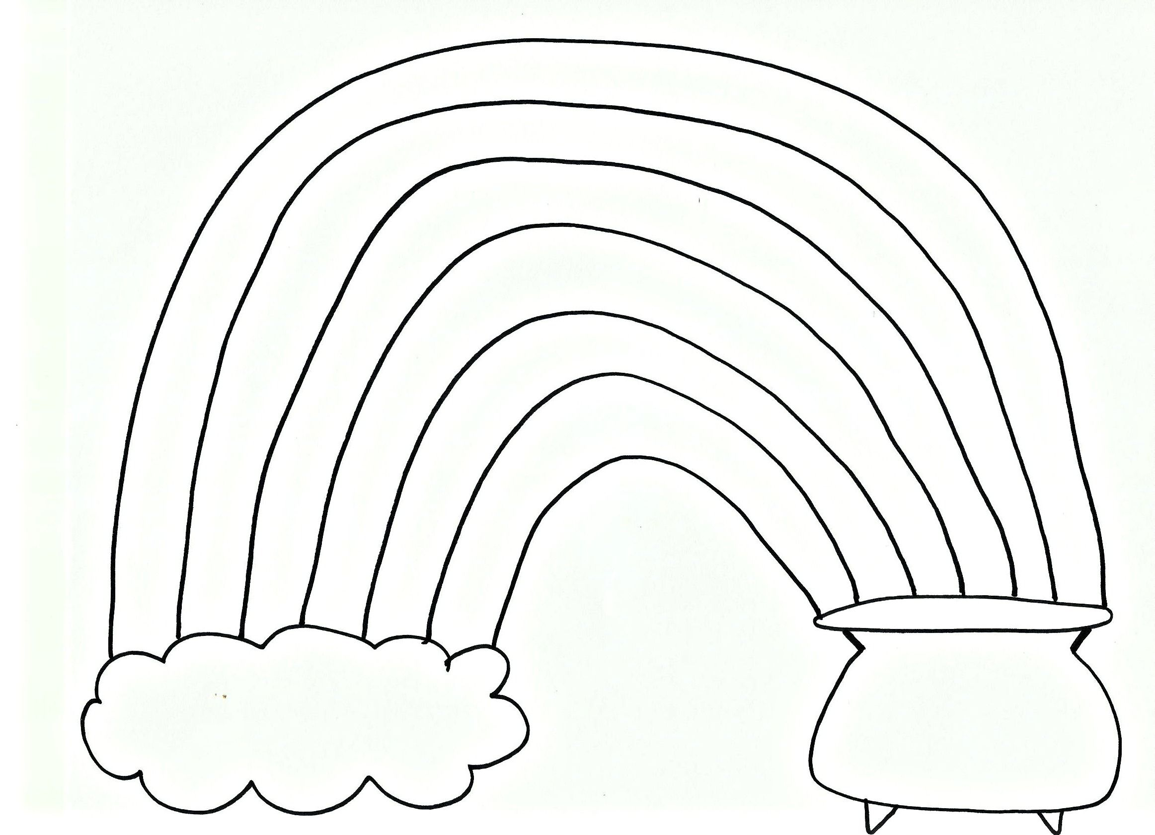 Rainbow Printable Coloring Page