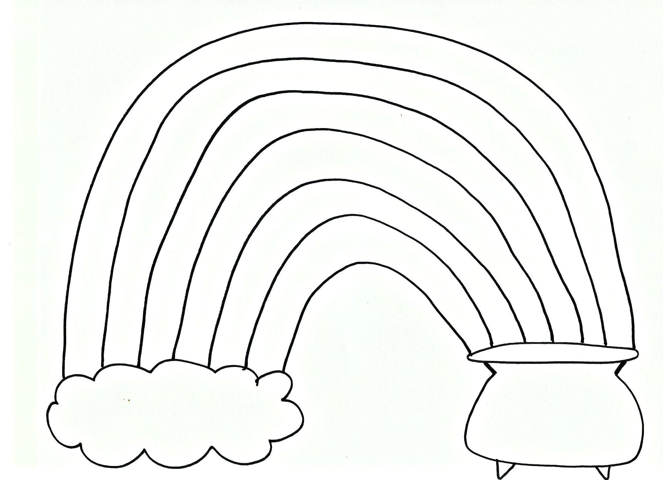 Pom Pom Rainbow Craft For St Patrick S Day Free Printable
