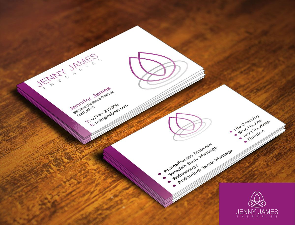 Magnificent Holistic Business Cards Contemporary - Business Card ...