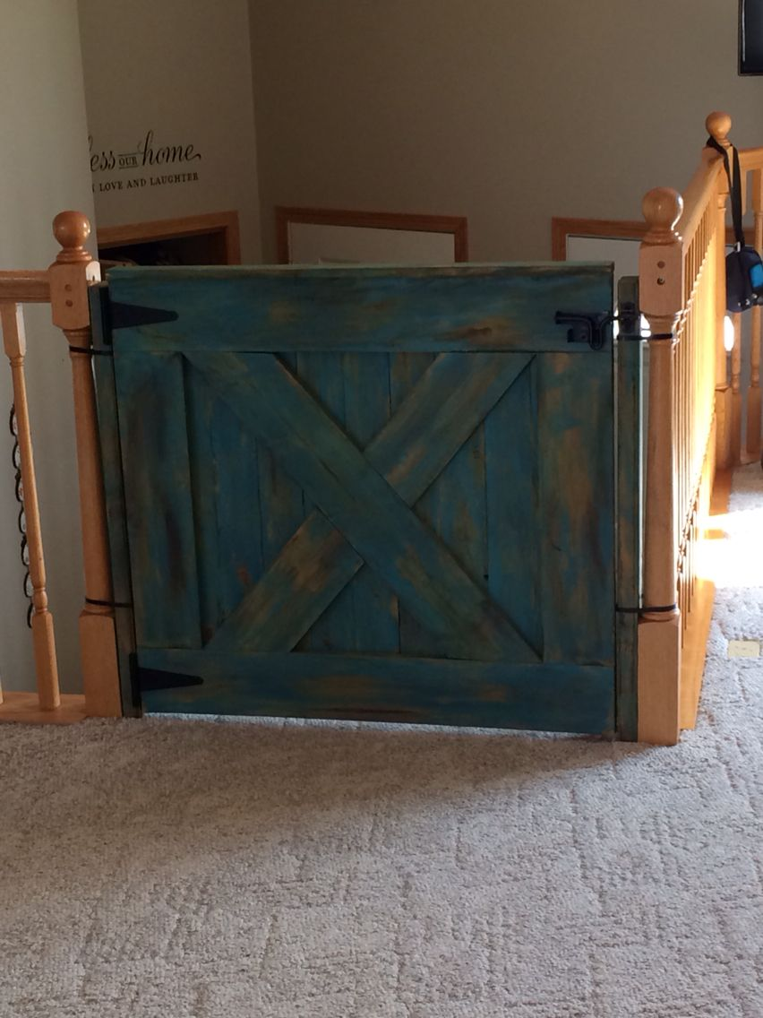 Diy Rustic Wooden Baby Gate Wooden Baby Gates Wooden Barn Doors Barn Door Baby Gate