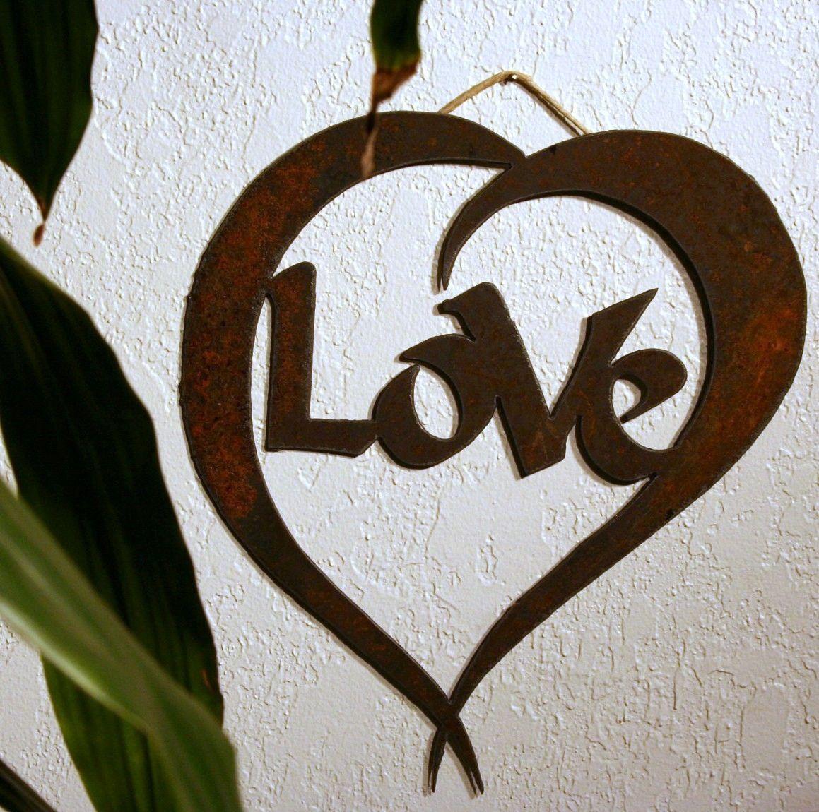 Love Rustic Heart Wall Decor 16 00 Via Etsy Heart Wall Decor Heart Wall Wall Decor