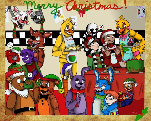 Fnaf Christmas.Fnaf Christmas Fnaf Merry Christmas Everyone Merry
