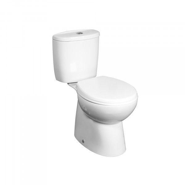 64.5€ Inodoro PRIMA con un diseño sencillo y funcional. Éste inodoro incluye la tapa de descenso progresivo. La cisterna es de doble descarga (2,3 4,5 litros) para un mayor ahorro del agua y se suministra con el mecanismo preinstalado. Disponible con salida de evacuación vertical o horizontal. Esta serie se completa con el bidé y el lavabo con pedestal. Fabricado en cerámica.