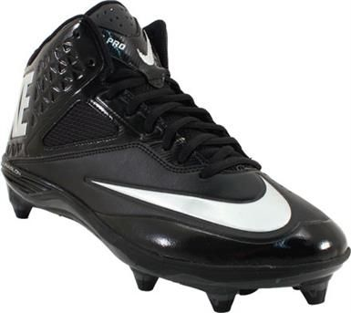 detailed look 3a059 7e91b Nike Lunar Code Pro 3 4 D Football Cleats - Mens Black Black Grey