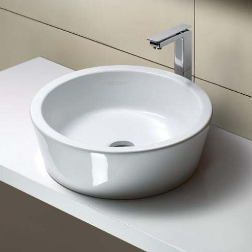 Genial Bathroom Sink, GSI MSF5411, Round White Ceramic Vessel Bathroom Sink MSF5411