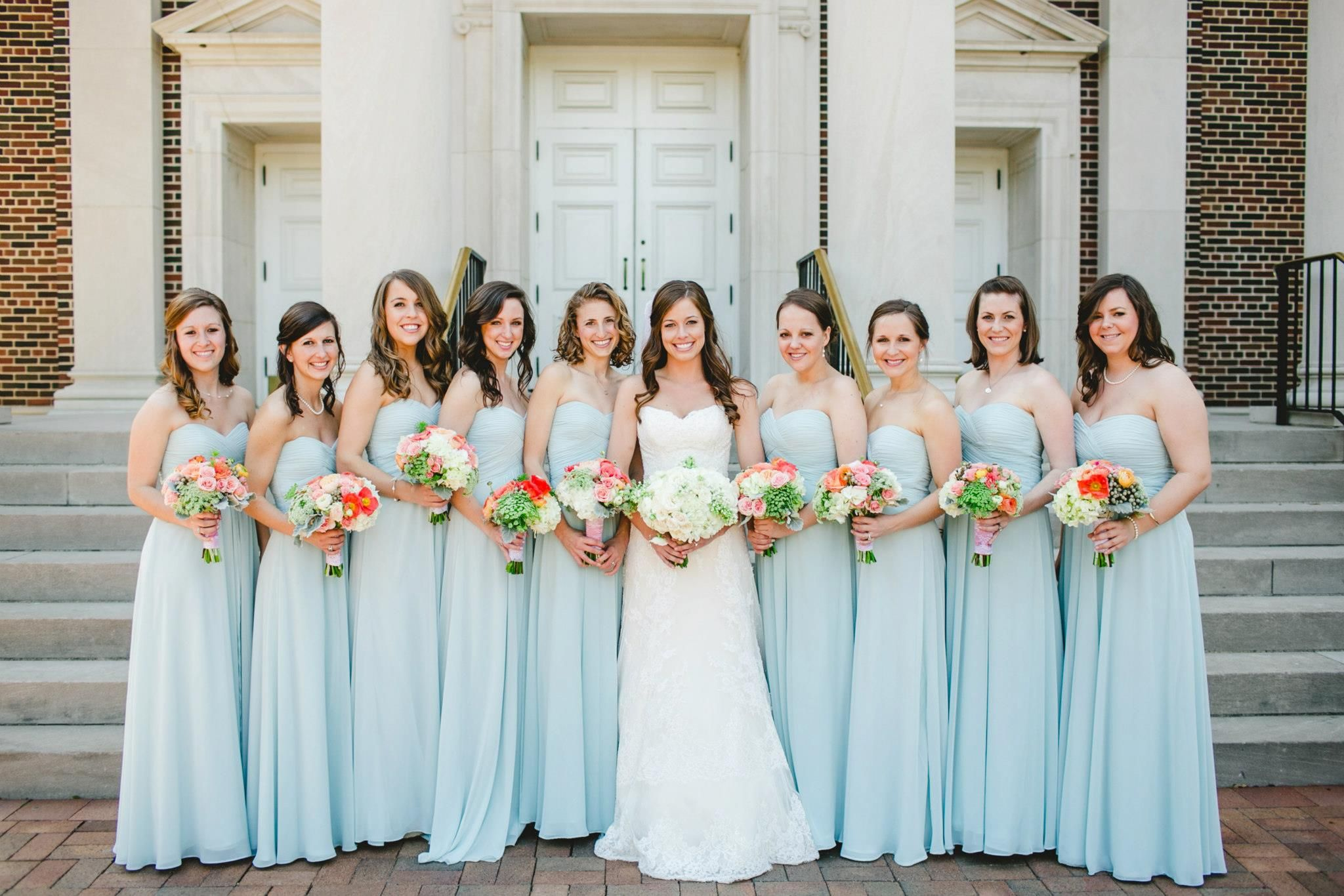Misty blue dresses from bari jay bridesmaids wedding colors misty blue dresses from bari jay bridesmaids ombrellifo Images