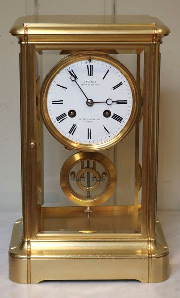Bell Striking French Four Glass Clock Antique Clocks Antique Clocks For Sale Beautiful Clock
