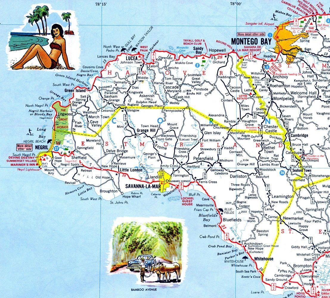 Handy When Drivin In Ja Jamaica Map Jamaica Map