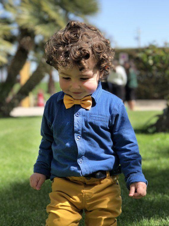 c557a34894bc3 Papillon per bambino giallo senape