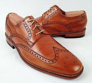 Cole Haan Shoes Air Giraldo British Tan Wingtip Oxford $350 Shoes Men 8 5  New |