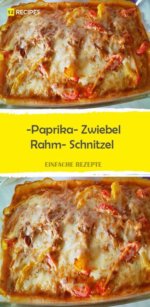 Paprika- Zwiebel- Rahm- Schnitzel
