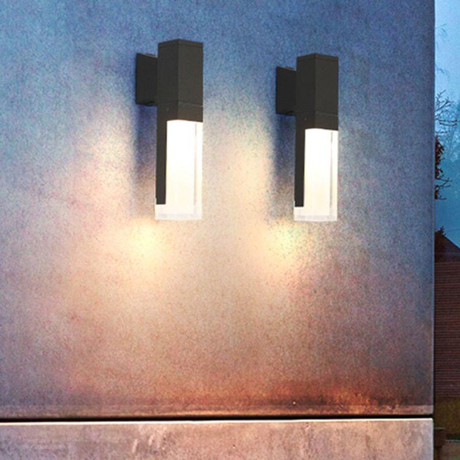 Beiaidi Outdoor Waterproof Led Wall Light Pir Human Body Motion Sensor Wall Lamp Nordic Garden Porch Aisle Balco Led Wall Lights Outdoor Wall Lamps Wall Lights