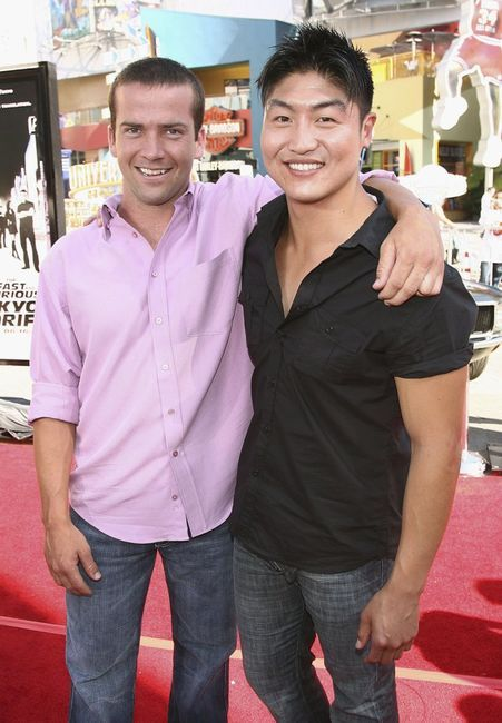 Photo of Lucas Black  & his friend Brian Tee