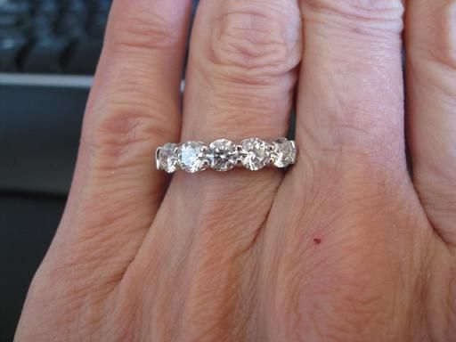 5 Stone Ring Choice 125 Ctw G VS2 Or 162 I RingsWedding