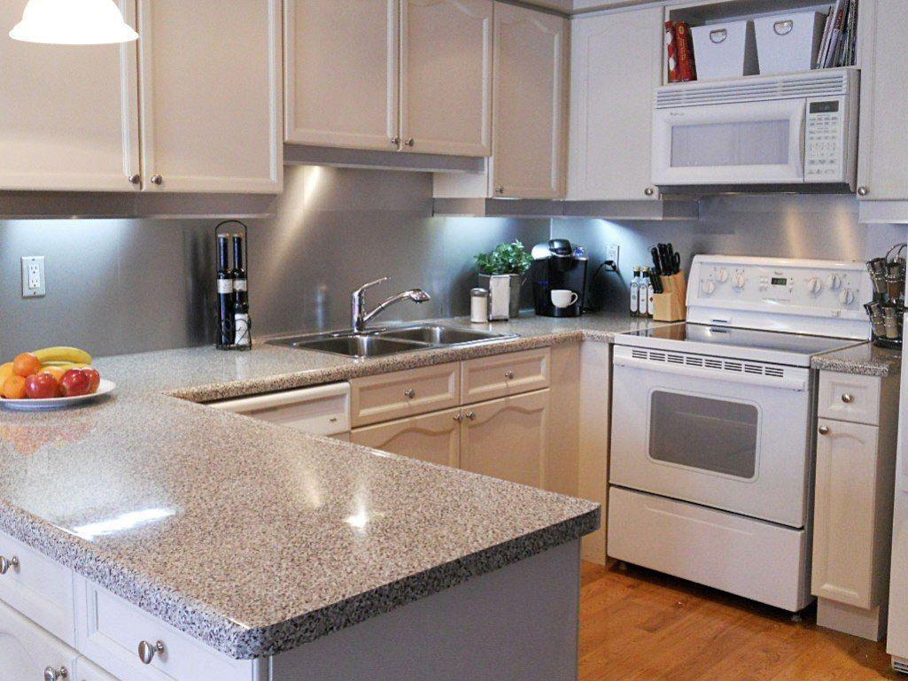 - Modern Kitchen Backsplash Stainless Steel Backsplash With White