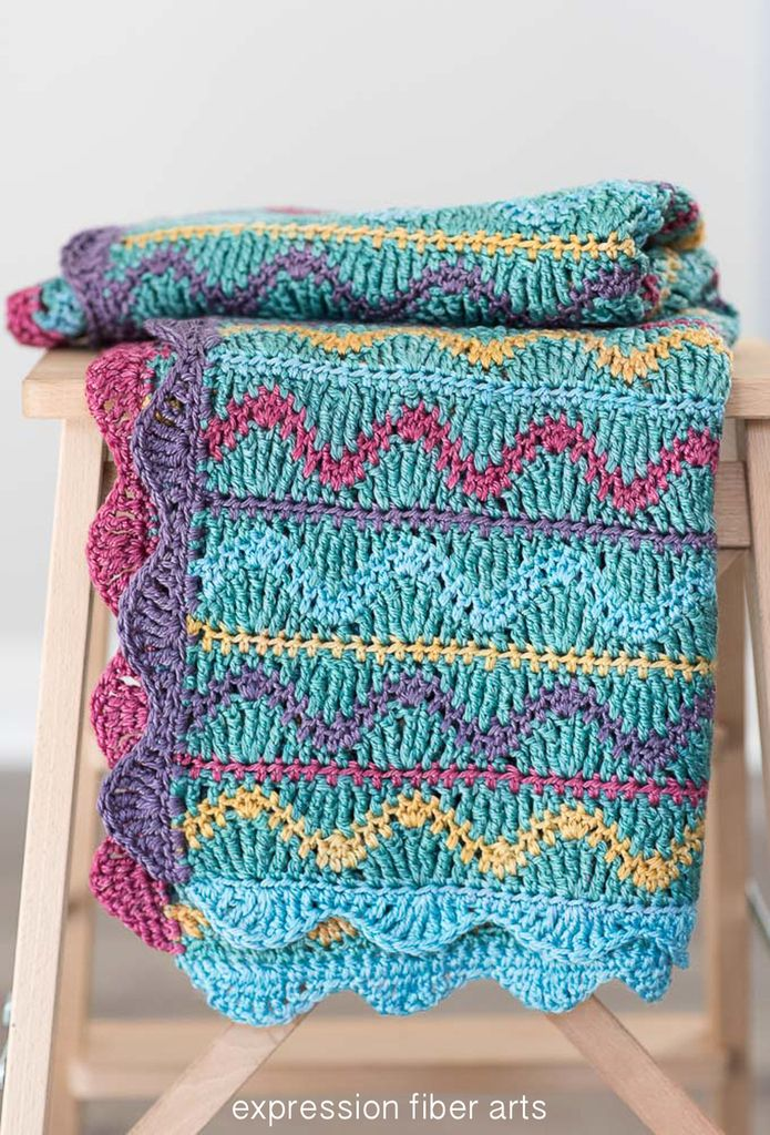 Squiggles Crochet Baby Blanket Pattern | Colchas, Manta y Lana