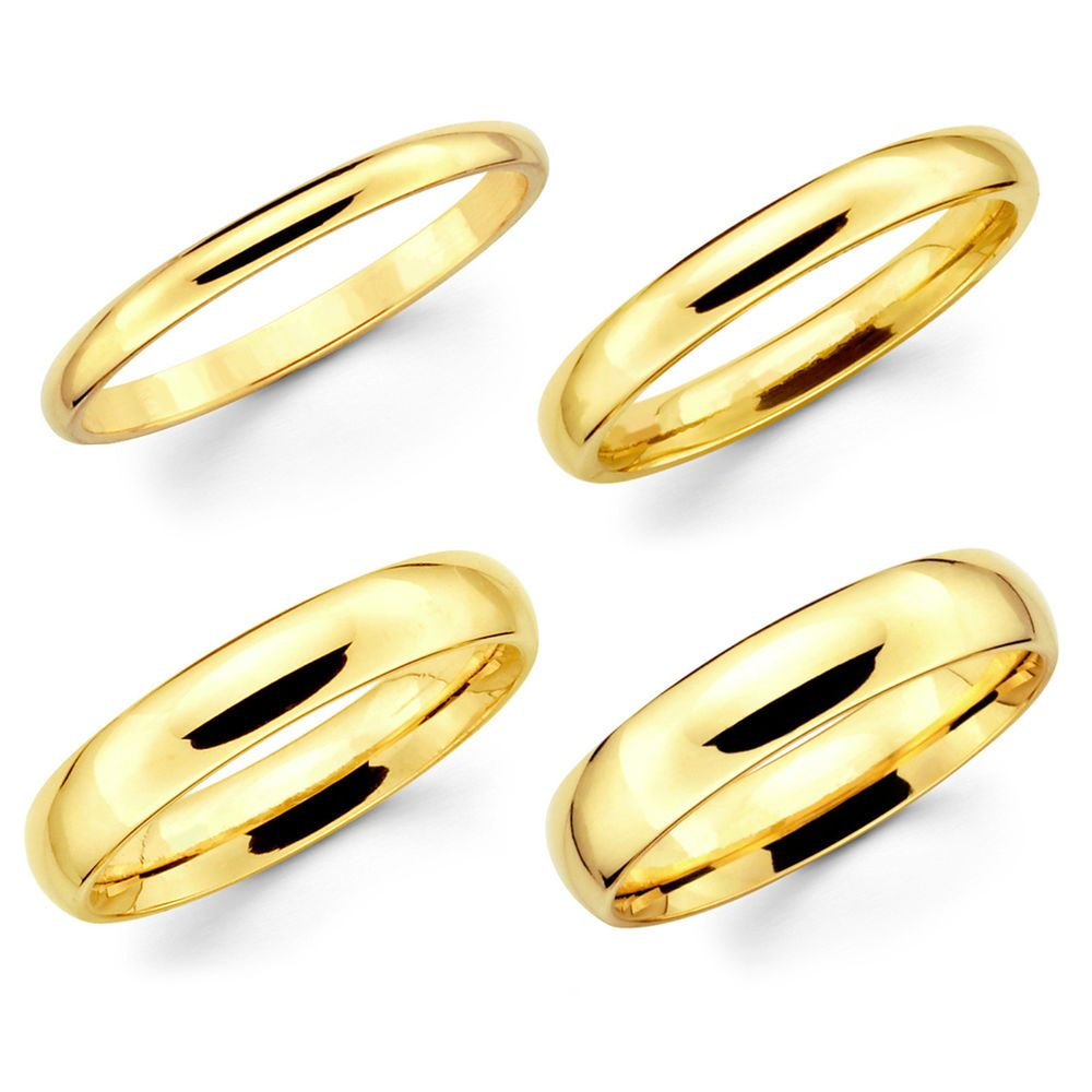 86bfd66eca8041 10K Solid Yellow Gold Comfort Fit Wedding Band. Karat: 10K. Width / Weight  (approx.). 2mm - 1.2 ~ 1.8 gr. 3mm - 1.7 ~ 2.2 gr. 4mm - 2.4 ~ 2.8 gr.