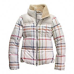 Legacy Tattersall Down Puffer Coach Outfits Fashion