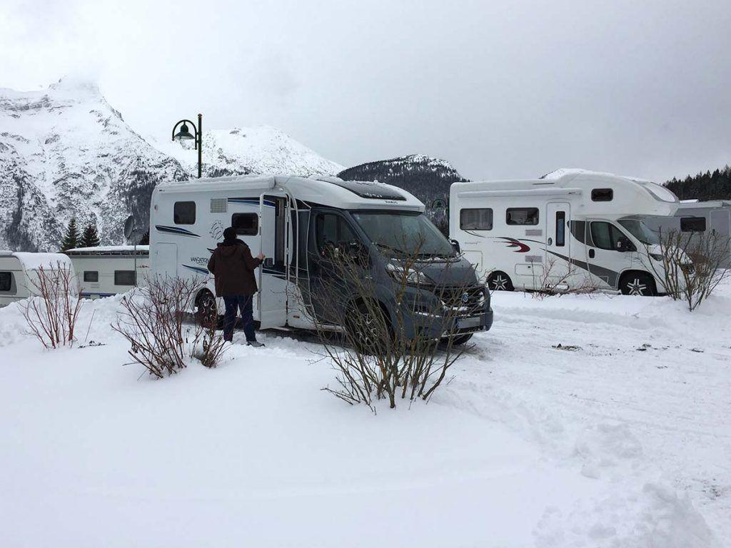 Winterfestes Wohnmobil:Draußen Winter Wonderland, innen kuschelig
