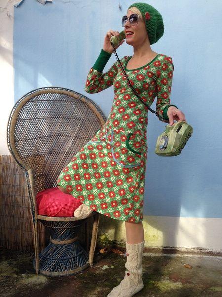 Herzblatt,Langarm-Kleid ,BIO-Jersey von Herzstück ...