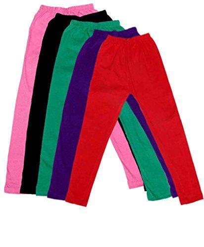 Indistar Kids Super Soft Cotton Leggings Combo 5