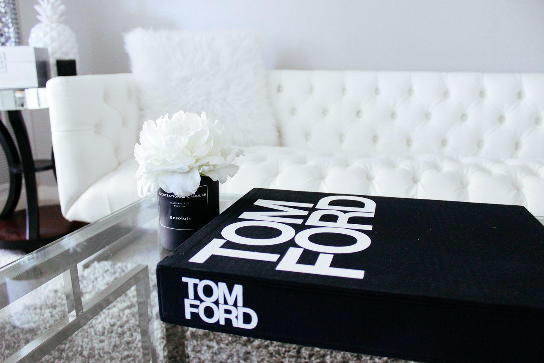 My Black & White Living Room Tom ford book, Fashion