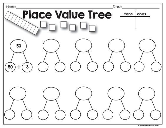 Need a quick math station on place value? Put this sheet