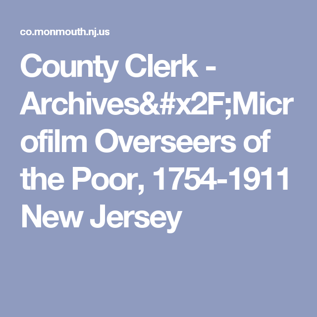 monmouth county clerk nj