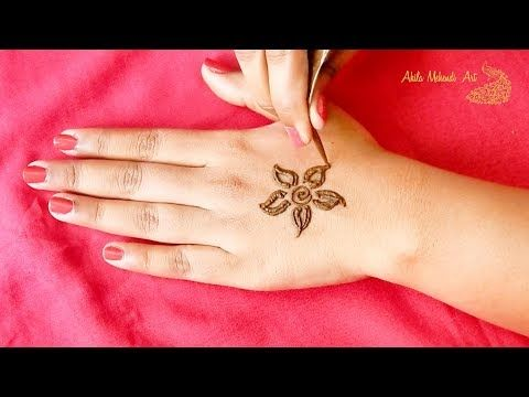 Latest arabic mehndi design back hand simple youtube designs for hands henna pinterest and also rh