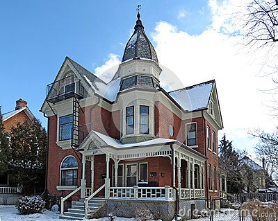 Beautiful Red Brick 2 5 Story Century Home With Turret And Wraparound Front Porch
