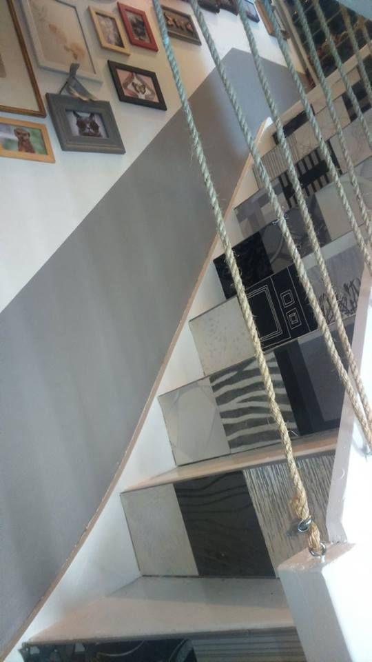 escalier garde corps contremarche moderne c ble corde buanderie pi ce sous escalier diy. Black Bedroom Furniture Sets. Home Design Ideas