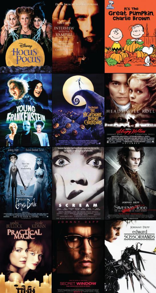 October Movie List aka just watch Johnny Depp. Lol