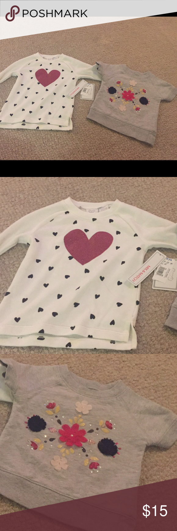 Two 2T sweaters Two 2T sweaters one NWT from babies r us and one from carters Carter's Shirts & Tops Sweaters