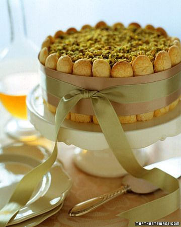 Don't know about the Pistachio Part, but the presentation is adorable