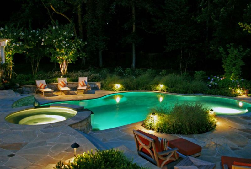 30 Small Pool Models Turn Your Courtyard Into A Paradise Backyard Pool Swimming Pool Lights Luxury Landscaping