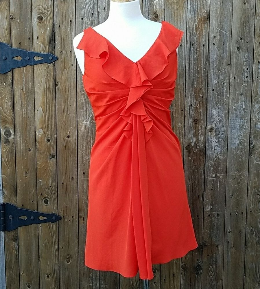 Boston proper size red ruched sleeveless fitted dress