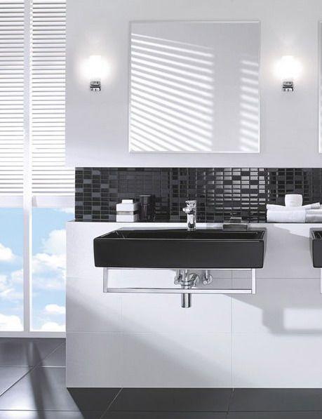 Ba os en blanco y negro elegantes y modernos interiors for Banos en blanco y negro