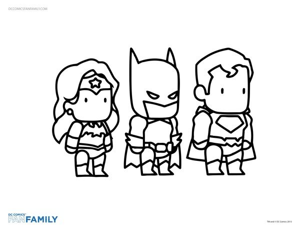 printable coloring pages from dc comics