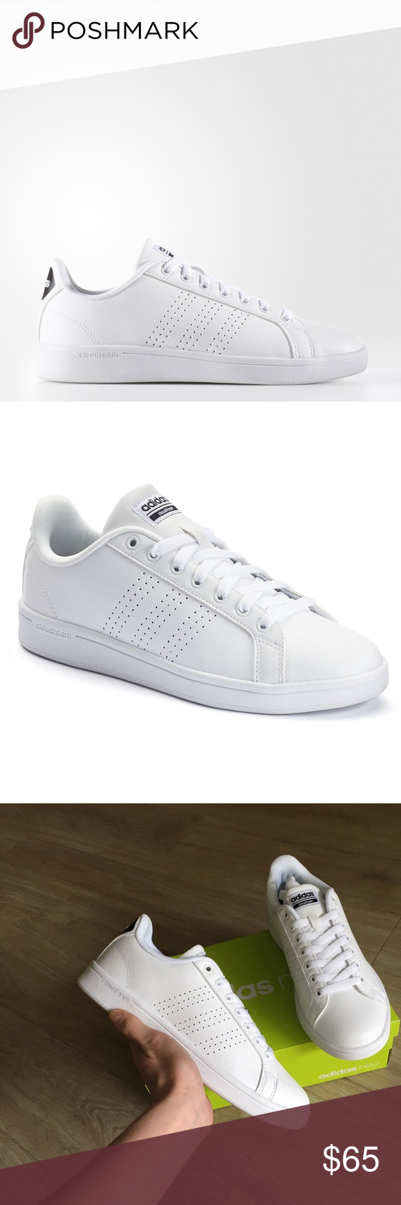 adidas neo advantage clean sneakers with upper perforations